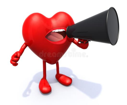 heart-arms-legs-mouth-shout-loudhailer-d-illustration-39156017